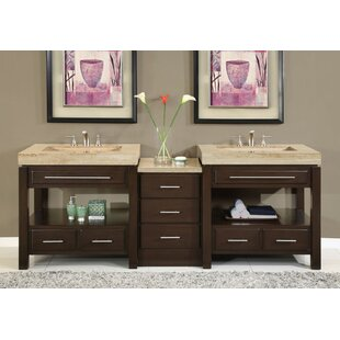 Charla 92 inch  Double Bathroom Vanity Set