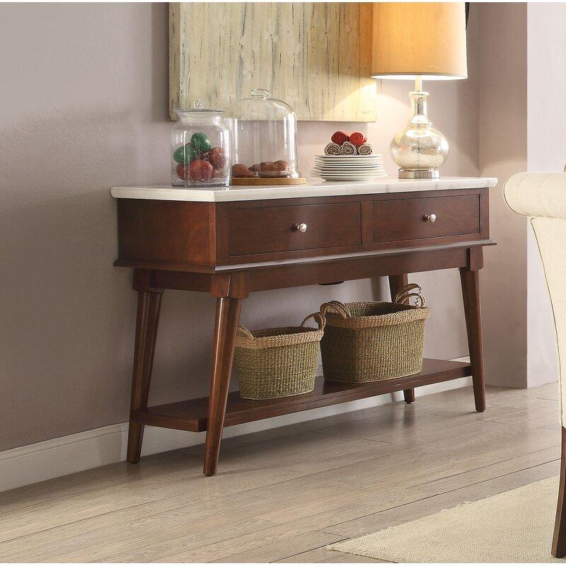 Corrigan Studio Ruppert 51 Wide 2 Drawer Buffert Table Wayfair