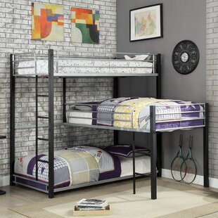 Fairfax Twin Triple Bunk Bed by Harriet Bee Great price