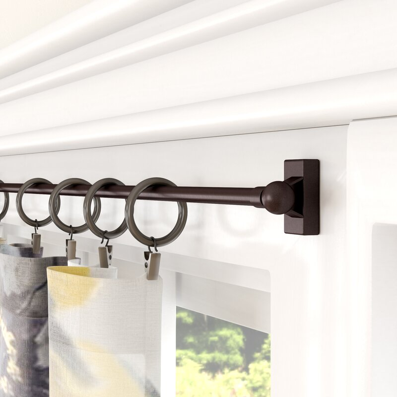 Andover Mills Borgen Magnetic Curtain Single Rod & Reviews