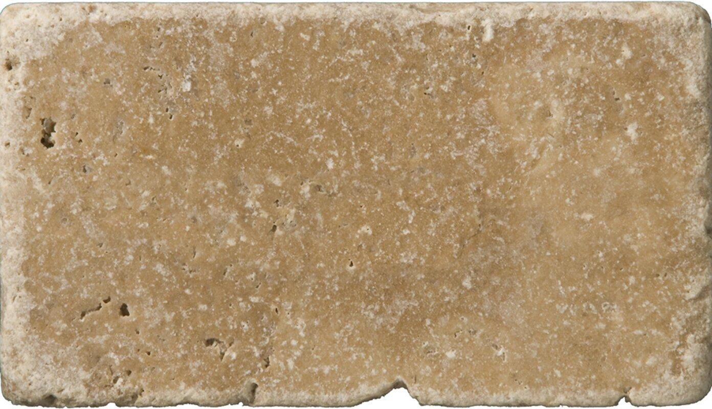 Emser tile travertine 3 x 6 subway tile in vino tumbled noce travertine 3 x 6 subway tile in vino tumbled noce dailygadgetfo Gallery