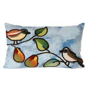 Nunnally Song Birds Outdoor Lumbar Pillow