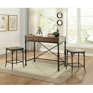 Leeper 3 Piece Counter Height Dining Set by August Grove