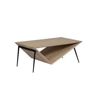 Craft Asymmetric Contemporary Coffee Table Brayden Studio