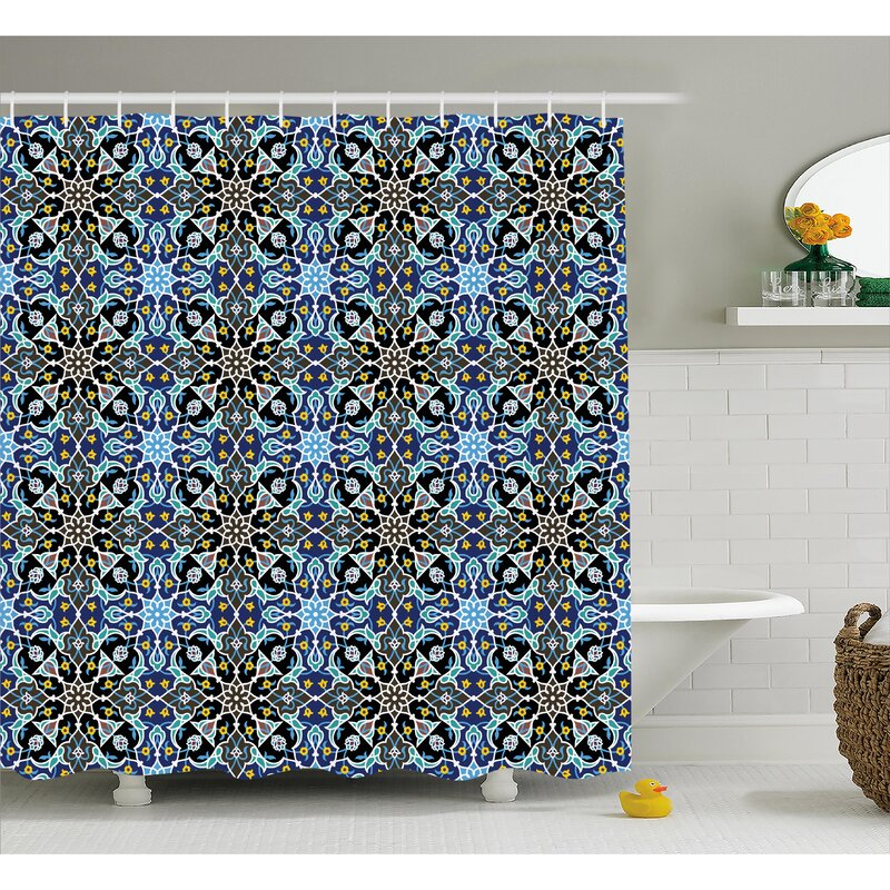 Gregg Eastern Arabic Pattern Shower Curtain