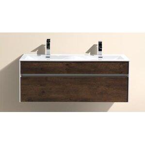 Brockman 48 Double Sink Modern Bathroom Vanity Set