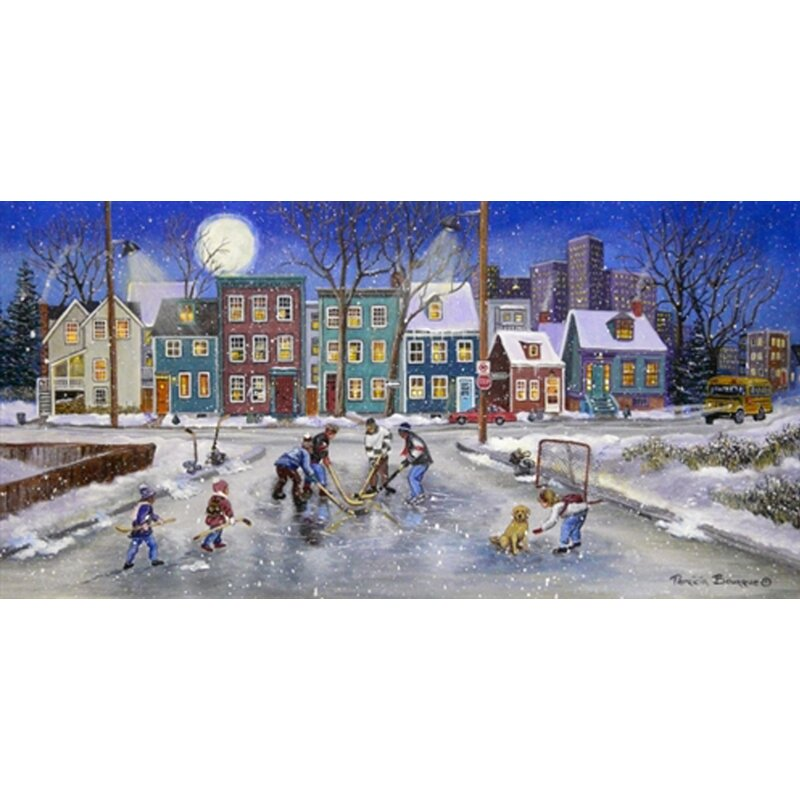Hadleyhouseco Moon Over Montreal By Patricia Bourque Painting Print On Wrapped Canvas Wayfair