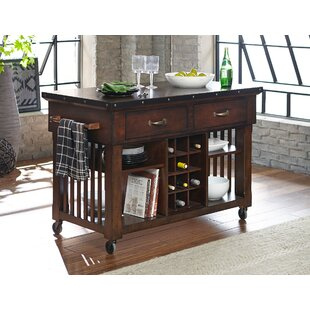 Cleo Wooden Kitchen Cart Millwood Pines