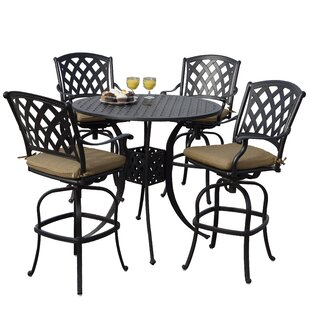 Campton 5 Piece Bar Height Dining Set with Cushions