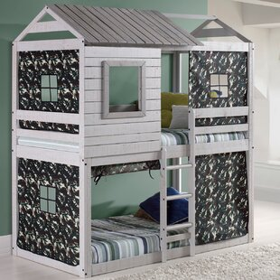 Shirlene Twin Over Twin Bunk Bed by Harriet Bee Cool