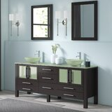 Lisenby 71 Double Bathroom Vanity Set with Mirror by Orren Ellis