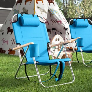 Sawyer Aluminum Portable Reclining Beach Chair with Cushion