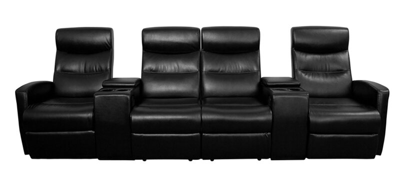 4 Seat Leather Home Theater Sofa