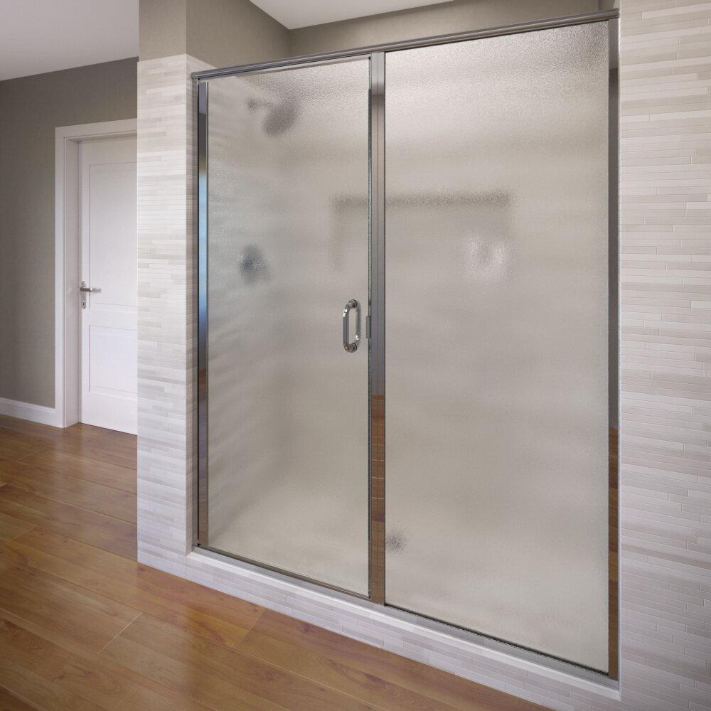 Basco Infinity 46 X 6863 Pivot Frameless Shower Door Wayfair
