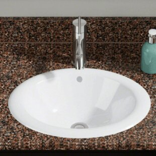 Vitreous China Oval Vessel Bathroom Sink by Polaris Sinks