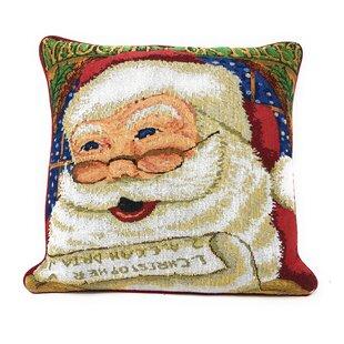 Santana Naughty or Nice Santa Clause Throw Pillow