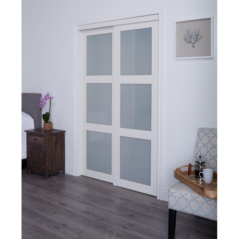 Renin Glass Sliding Closet Doors With Installation Hardware Kit Reviews Wayfair