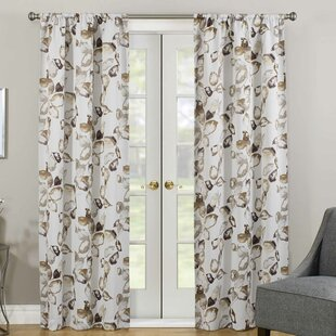 Malcolm Thermaweave® Nature/Floral Room Darkening Rod Pocket Single Curtain Panel by Andover Mills