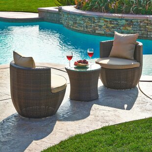 Ethan 3 Piece Rattan Conversational Set with Cushions
