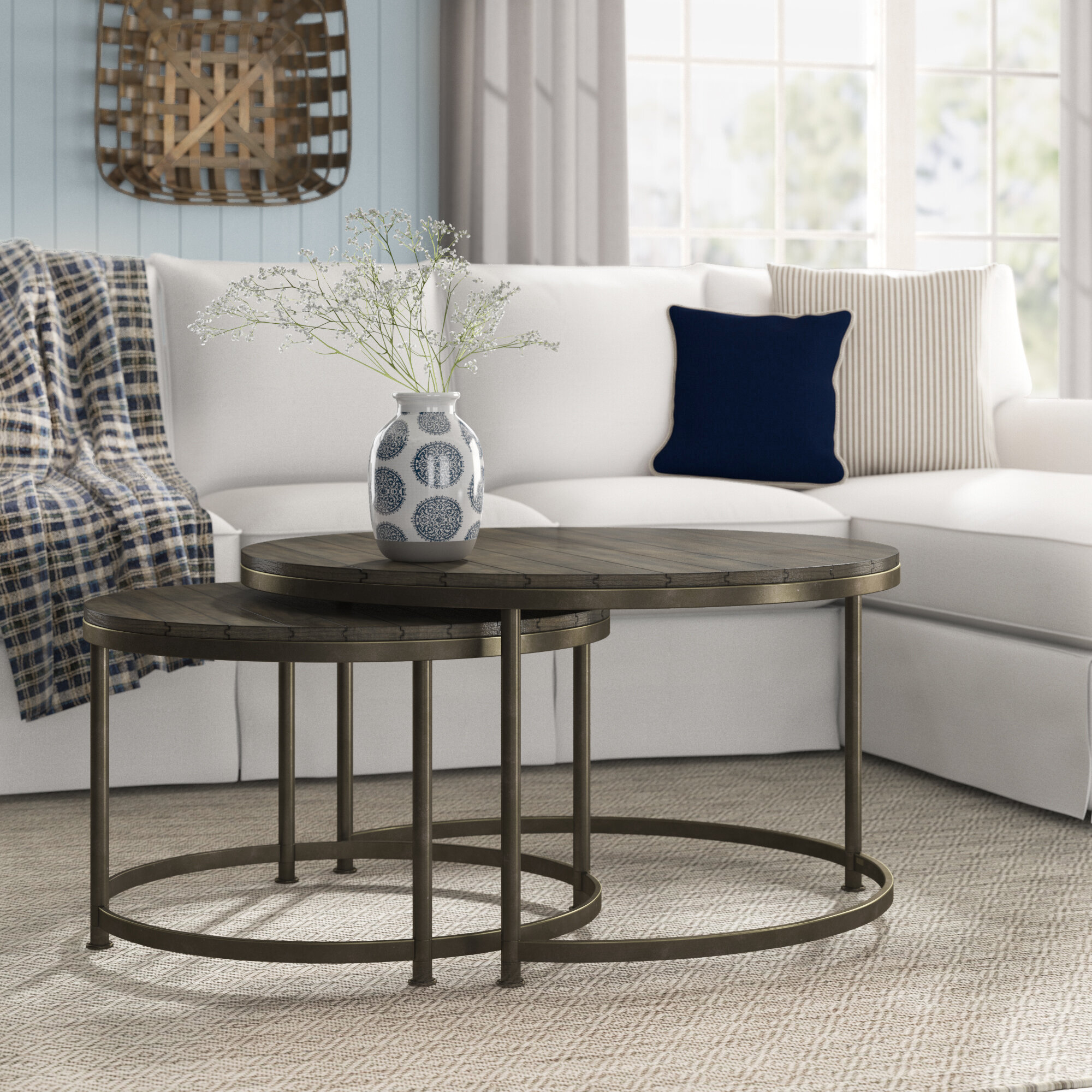 17 Stories Fricis 2 Coffee Table Sets Reviews Wayfair
