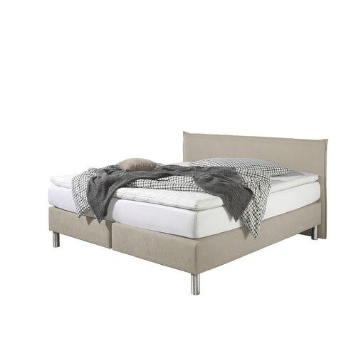 Boxspringbett Perth | Schlafzimmer > Betten > Boxspringbetten | Creme | Stoff - Holzwerkstoff | Home Loft Concept