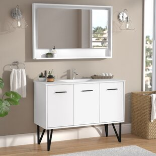 Almaraz 47 Single Bathroom Vanity Set with Mirror by Langley Street