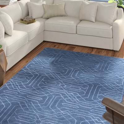 Wrought Studio Watts Hand-Tufted Bright Blue Area Rug Rug Size: Rectangle 4' x 6'