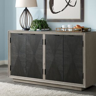 Hoover Four Door Duotone Parquet Sideboard Union Rustic