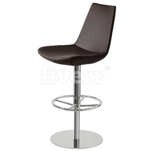 Shinkle Piston Adjustable Height Swivel Bar Stool Brayden Studio