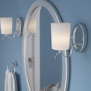 Reviews Greenwell 1-Light Bath Sconce By Three Posts