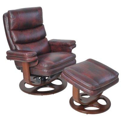 Awesome Bella Manual Swivel Recliner With Ottoman Barcalounger Creativecarmelina Interior Chair Design Creativecarmelinacom