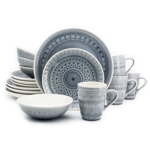 Incroyable Kazuko 16 Piece Dinnerware Set, Service For 4