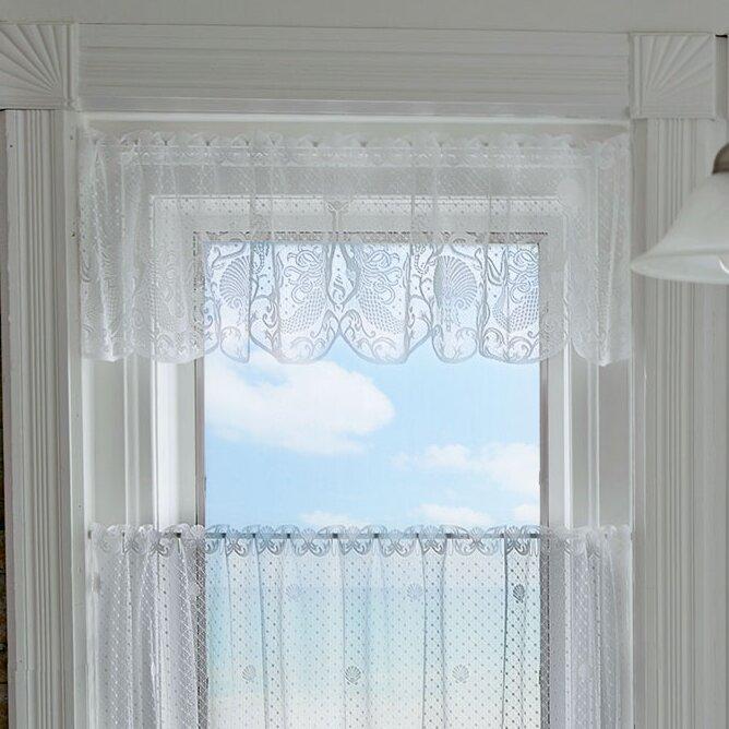 Highland Dunes Burr Mermaids Cafe Curtain | Wayfair.ca