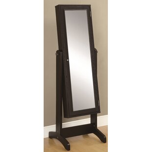 Cappuccino Jewellery Storage Mirror