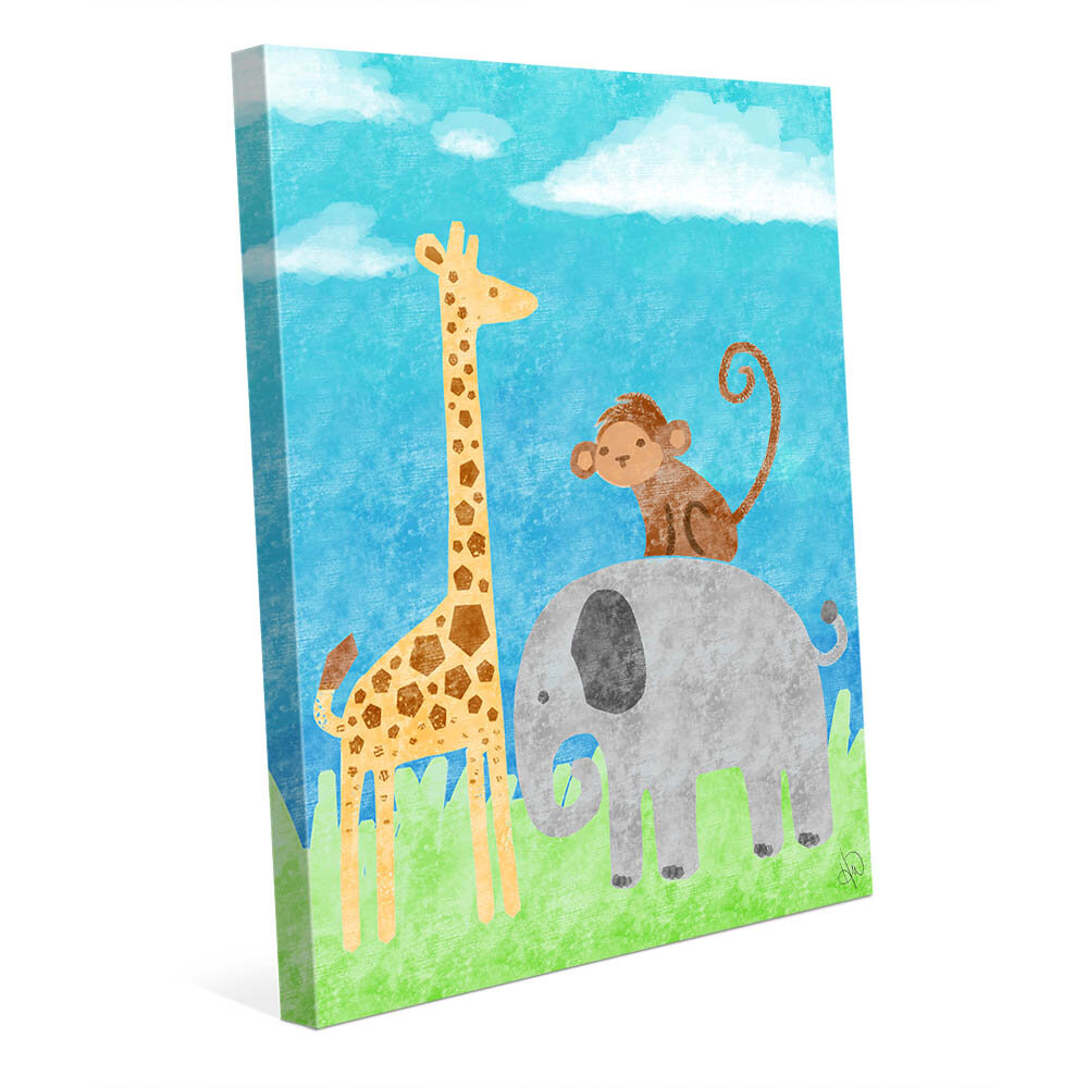 Click Wall Art Animal Buddies Graphic Art On Wrapped Canvas Wayfair