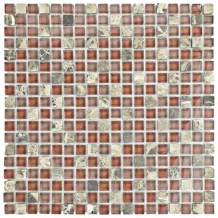 Sierra 0.58 inch  x 0.58 inch  Glass and Natural Stone Mosaic Tile