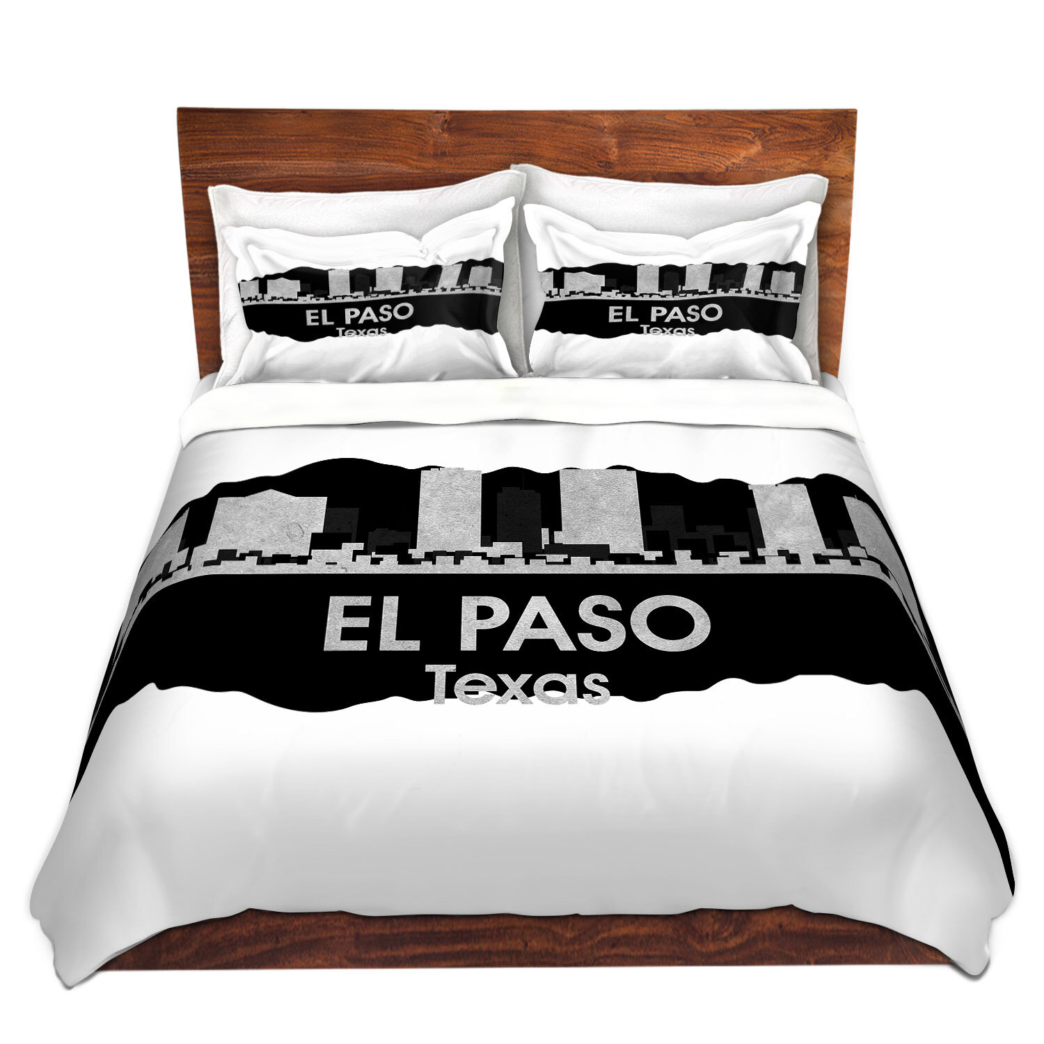 East Urban Home City Iv El Paso Texas Duvet Cover Set Wayfair