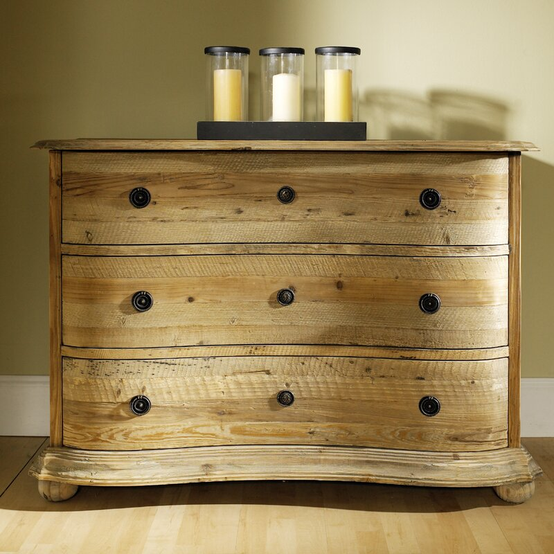 Salvaged Wood 3 Drawer Standard Dresser