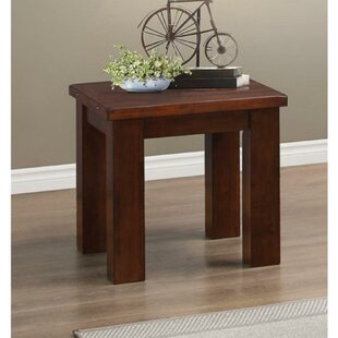Deals Darrion Rubber Wood End Table by Red Barrel Studio