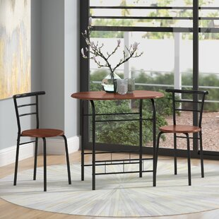 Volmer 3 Piece Compact Dining Set By Zipcode Design