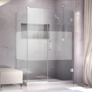 Unidoor Plus 54.5 x 72 Hinged Frameless Shower Door with Clear Max Technology by DreamLine