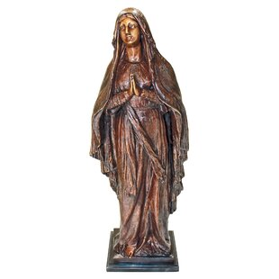 Exceptionnel Madonna Blessed Mother Cast Garden Statue