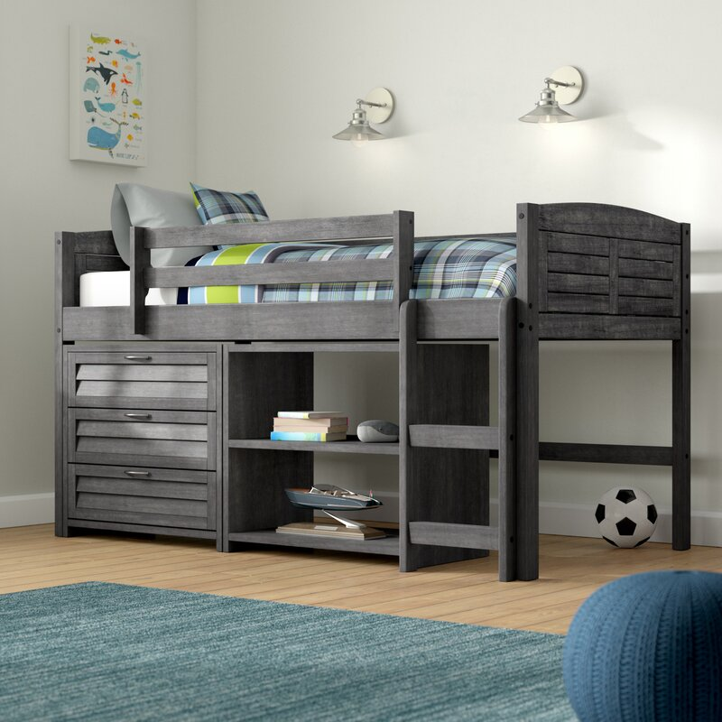 Birch Lane Heritage Evan Twin Low Loft Bed With Storage Reviews