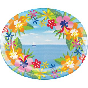 Lush Luau Oval Paper Dinner Plate (Set of 24)