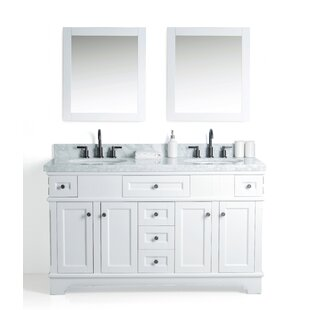 Hewson Solid Wood 61 Single Bathroom Vanity Set with Mirror by Alcott Hill