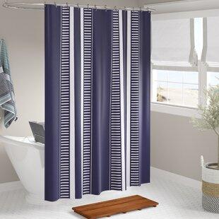 Best Mundell Dashing Stripe Shower Curtain ByBeachcrest Home