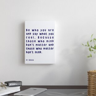 U0027Dr Seuss Quote Navyu0027 By Indigo Sage Textual Art On Wrapped Canvas