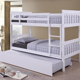 allentown twin white ladder beds trundle storage bunk acme bed