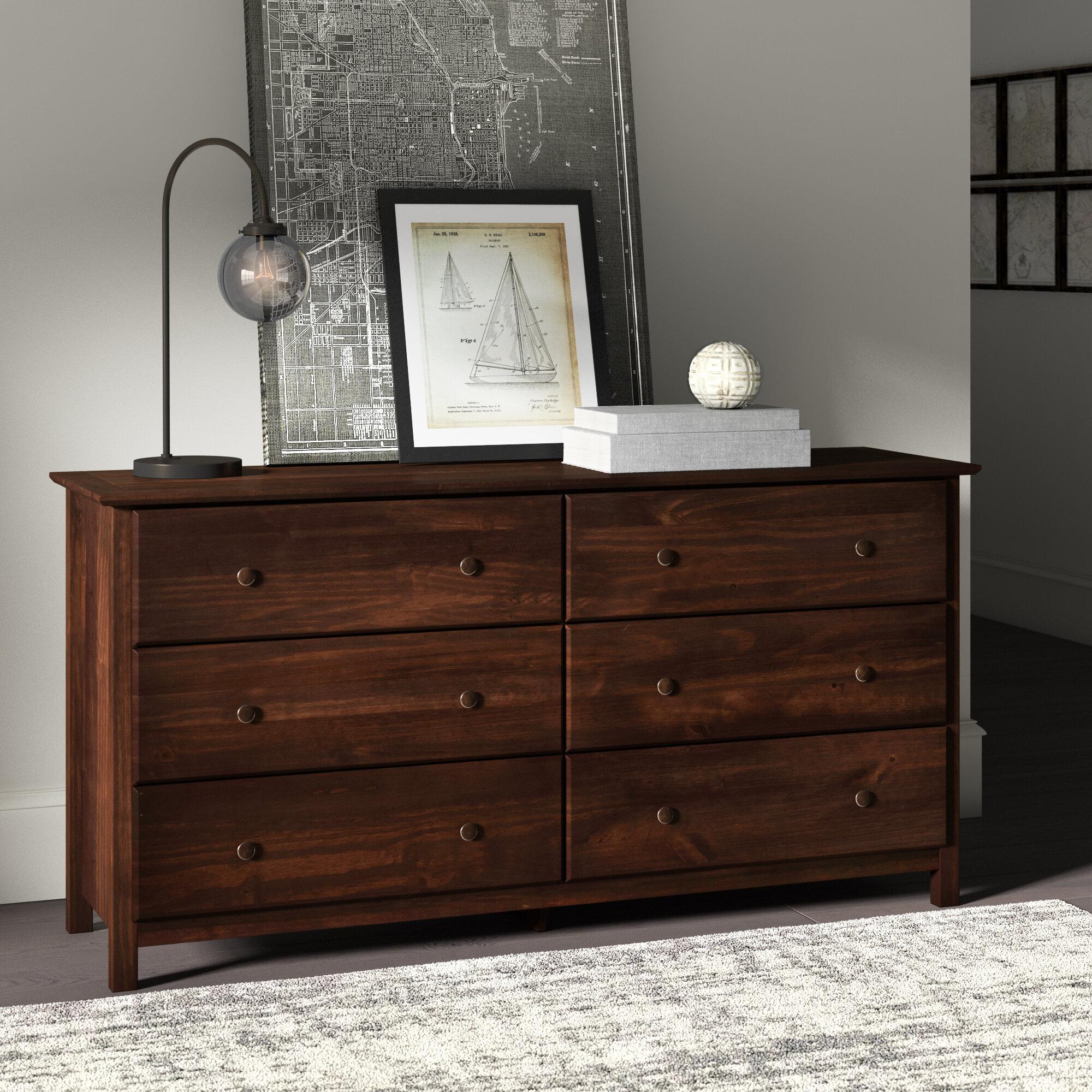 Grain Wood Furniture Shaker 6 Drawer