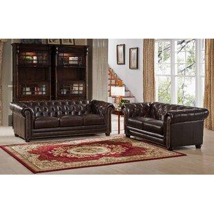 Kensington 2 Piece Leather Living Room Set ByAmax